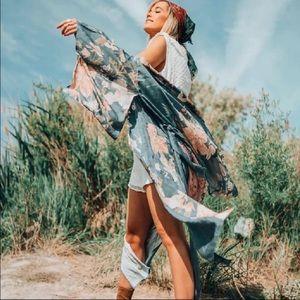Bird Of Paradise Gypsy Bohemian Kimono